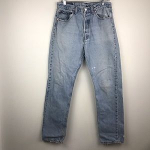 VTG USA Made Levi's 501 Medium Wash Straight Jeans